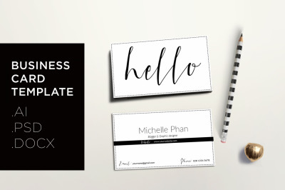 Modern business card