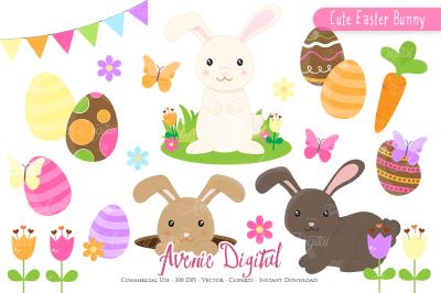 Easter Bunny Clipart - Vectors