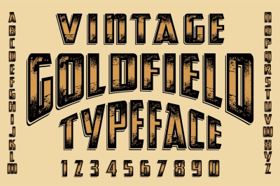 Vintage Goldfield Typeface