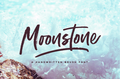 Moonstone Brush Font