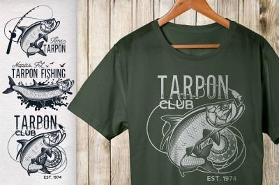 Vintage Tarpon Fishing Emblems