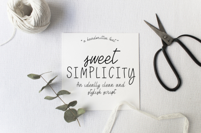 Sweet Simplicity~A Handwritten Font