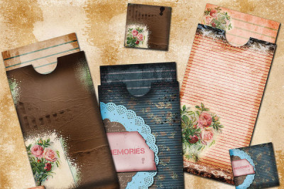 Junk Journal Envelopes, Vintage Memories