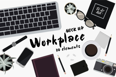 Set of 30 elements in vector for Workplace