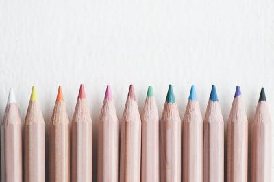Art Pencils in a Row