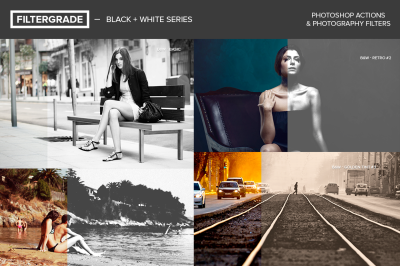 Black & White Series Photoshop Actions