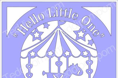 Baby Boy or Baby Girl SVG Rocking Horse Carousel Frame