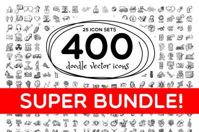 400 doodle icons set