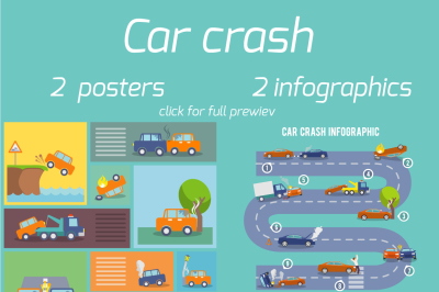 Car crash posters