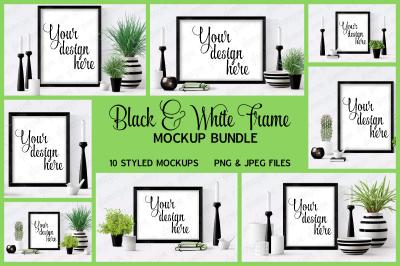 Black Frame Mock Up Bundle
