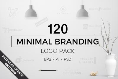 120 Minimal Branding Logo Pack