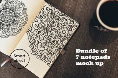 Bundle of Notepads Mockups