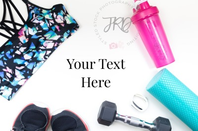 Workout Fitness Styled Stock Photo