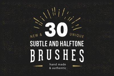 30 Subtle Halftone Brushes