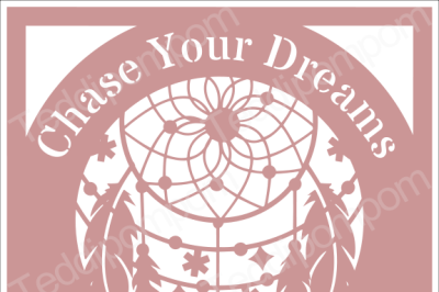 CHASE YOUR DREAMS DREAMCATCHER SVG Papercut Frame, cricut silhouette svg Papercutting, Card Making,Digital Upload