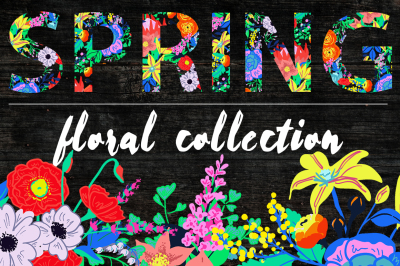 Neon Bright Floral Collection