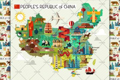 China Travel Map.