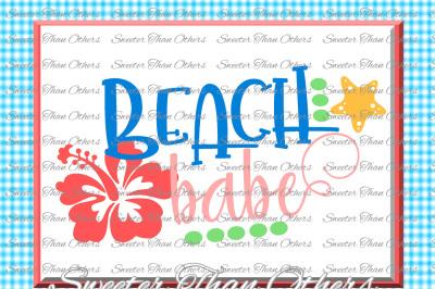 Beach Svg Beach Babe svg, Summer Beach pattern, Dxf Silhouette, Cameo cut file, Cricut cut file INSTANT DOWNLOAD, Vinyl Design, Htv Scal Mtc
