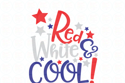 Red white & cool SVG, EPS, DXF, PNG