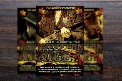 Wild Wild West Party Flyer