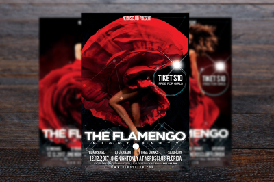 The Flamenco Night Party Flyer