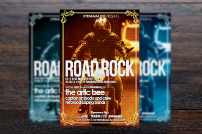 Road To Rock Music Flyer