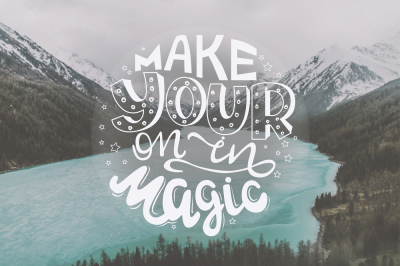 6 Hand Drawn lettering Inspirational Quotes.