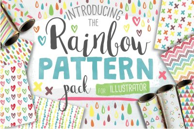 Rainbow Seamless Pattern Pack