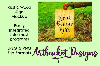 Rustic Wood Sign Mockup (#32)
