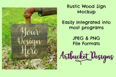 Rustic Wood Sign Mockup (#8)