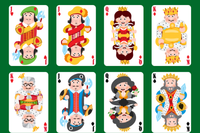 Cartoon playing cards