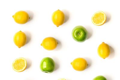 Apple and lemon pattern