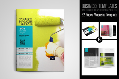32 Pages Magazine Template