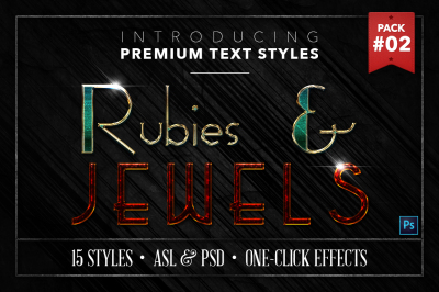 Rubies & Jewels #2 - 15 Text Styles
