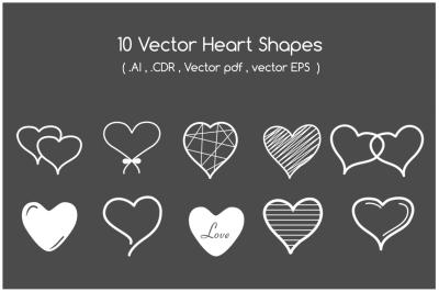 Heart Shapes - Vector