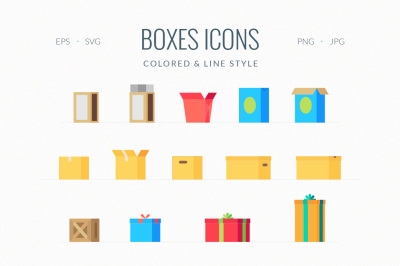 Open and Close Different Boxes Icon
