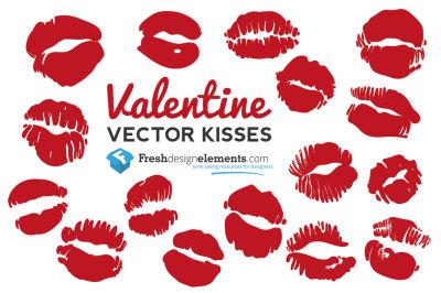 Valentine Vector Kisses