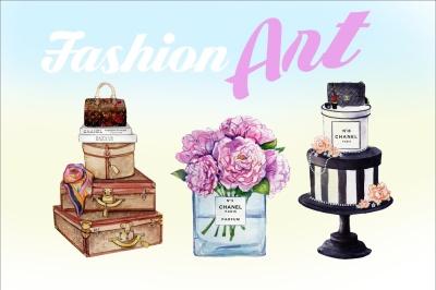 Watercolor Fashion Art Designs