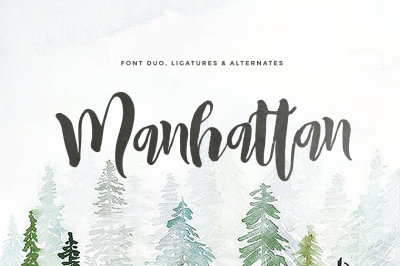 Manhattan Script & Sans (2Fonts)