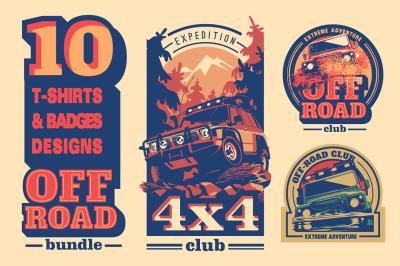 Off-Road 4x4 T-Shirts & Badges Bundle