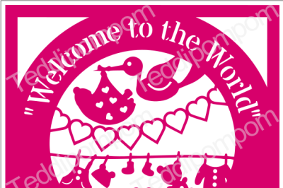 Baby SVG, Welcome to the World Baby Birth Announcement Papercut, SVG  Papercutting, Card Making,