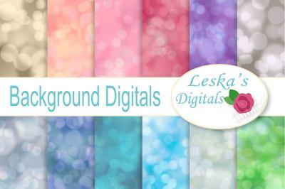 Blurred Backgrounds - Bokeh Digital Paper