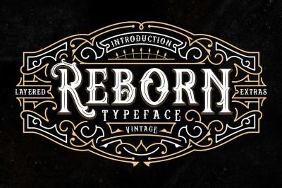 Reborn Typeface + Extras