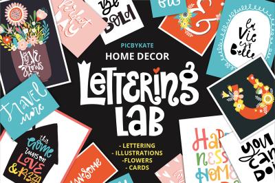 Home Decor Lettering Lab