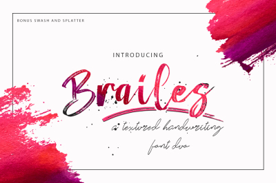 Brailes Font Duo + Swash and Splatter