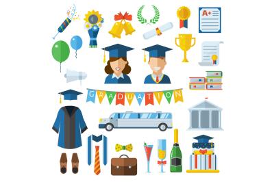 Graduation Day Icon Set