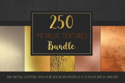 Metallic textures bundle