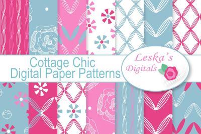 Cottage Chic Digital Paper Patterns