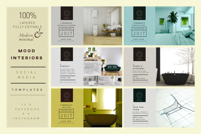 MOOD Interiors SocialMedia Templates