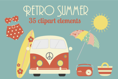 Retro Summer clipart